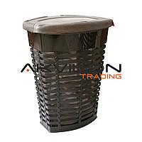 Кошик для білизни з чохлом Prima Nova Palm 50 л, 47х36х60 см, коричнева, E44-10-10