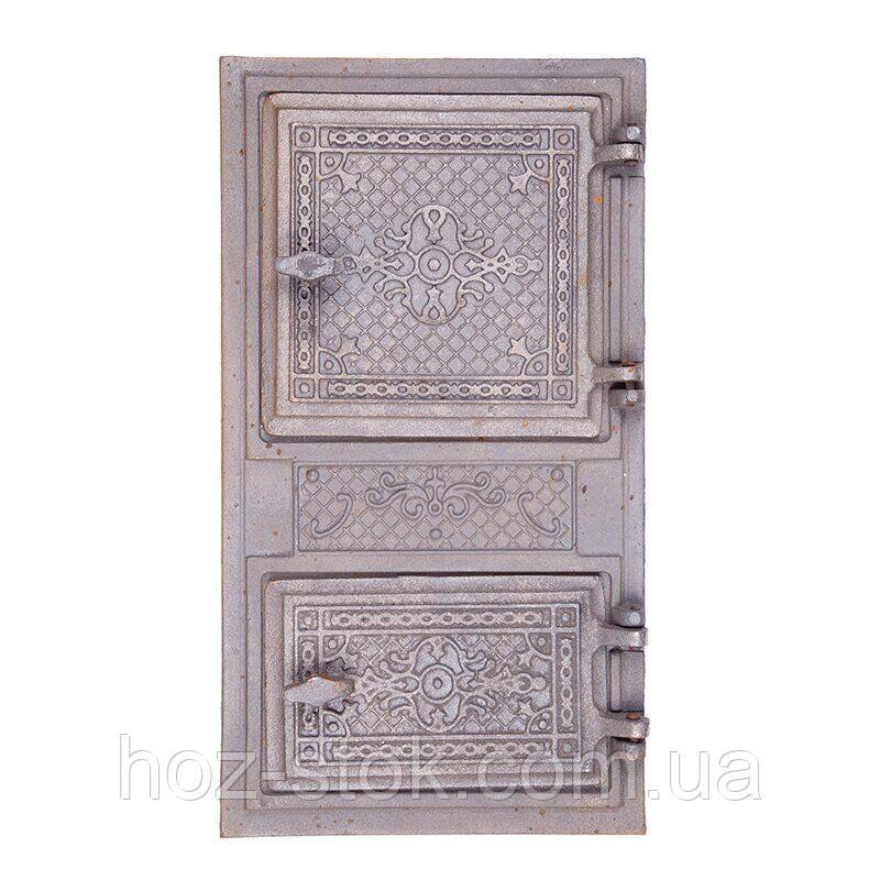 Дверцята чавунні спарені Булат Елегант 490х270 мм