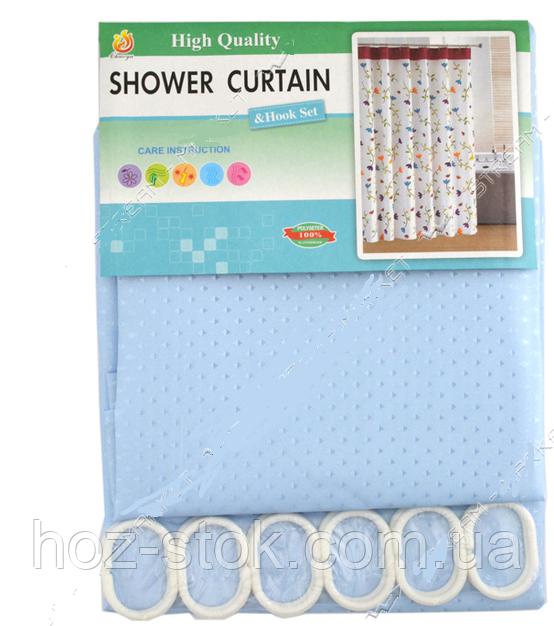 Шторка для ванної кімнати SD текстиль Піка P блакитний, 180х180 см