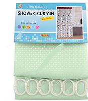 Шторка для ванної кімнати SD текстиль Піка P зелений, 180х180 см
