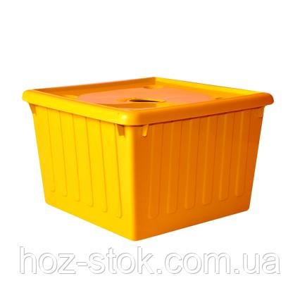 Ємність для зберігання речей з кришкою Алеана 25 л (світло-помаранчевий)
