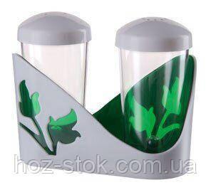 Набір для спецій Berossi Viola 61х105х84 мм, зелений напівпрозорий