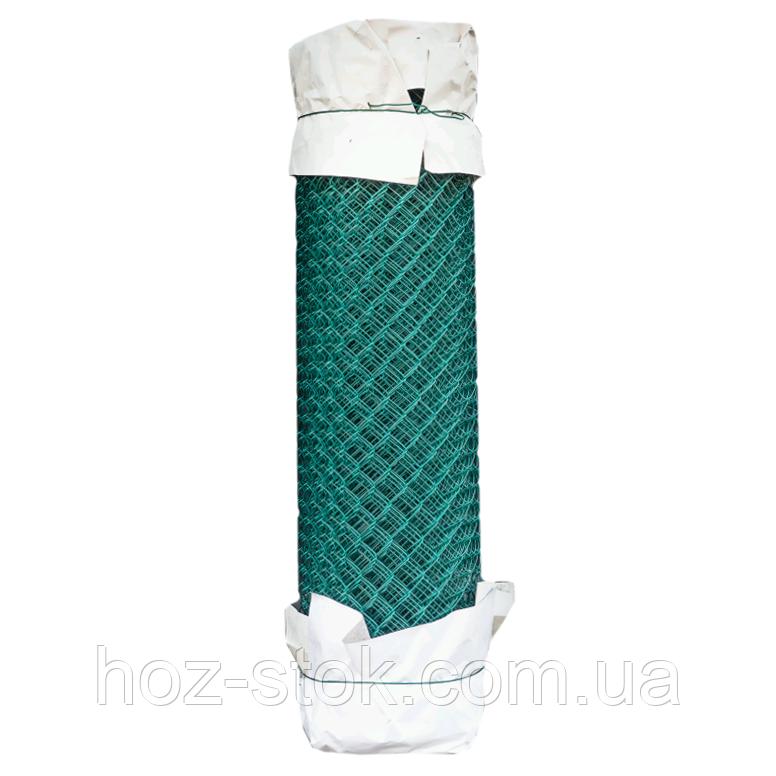 Сітка рабиця з ПВХ покриттям 35х35х2.5 мм, 1.5х10 м зелена