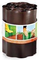 Газонний бордюр Cellfast коричневий (15 см, 9 м) (30-012)
