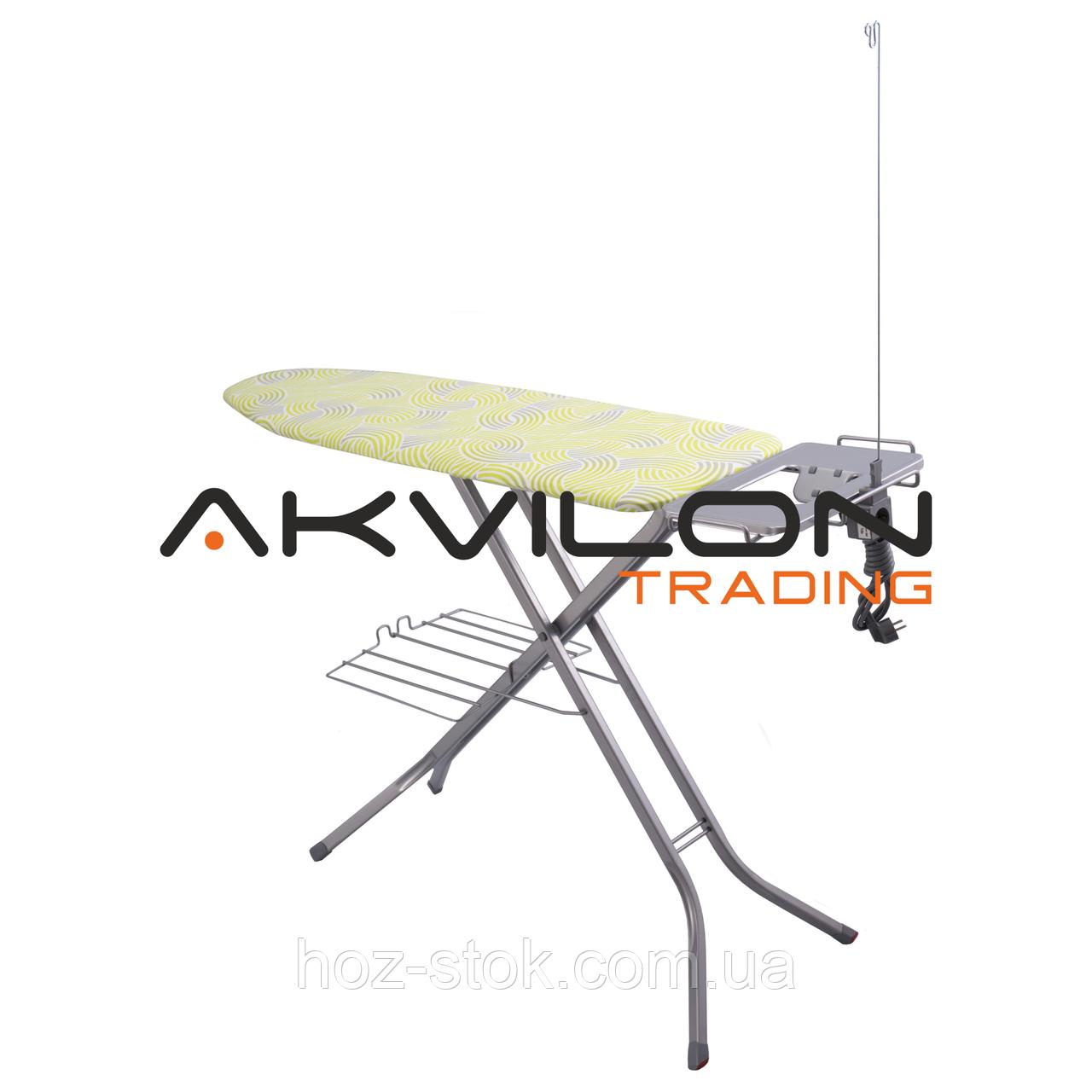 Дошка для прасування EuroGold 120х38 см, основа сітка, підставка, розетка з подовжувачем, висота 90 см