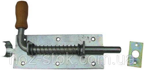 Засув гаражний на пружині №3 (L-530) з дерев'яною ручкою (40604156)