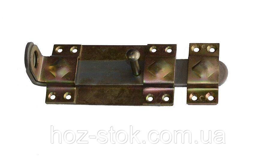 Засув дверний анодований плоский 140 мм (Мариуполь)