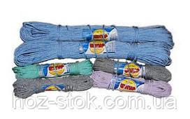 Шнур комбінований побутовий плетінь жорстку кольоровий, 3.8 мм, 25 м (Д 38)