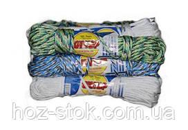 Шнур поліпропіленовий побутовий плетінь м'яка який 3.4 мм, 12.5 м (Д 34)