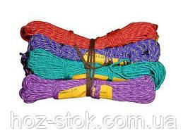 Шнур поліпропіленовий побутовий плетінь м'яка який кольоровий 2.5 мм, 25 м (Д 24)