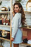 Короткая юбка трапеция голубая, фото 4