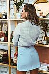 Короткая юбка трапеция голубая, фото 5