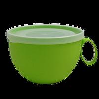 Чашка з кришкою Алеана 0.5 л (кольори в асортименті) (168006)