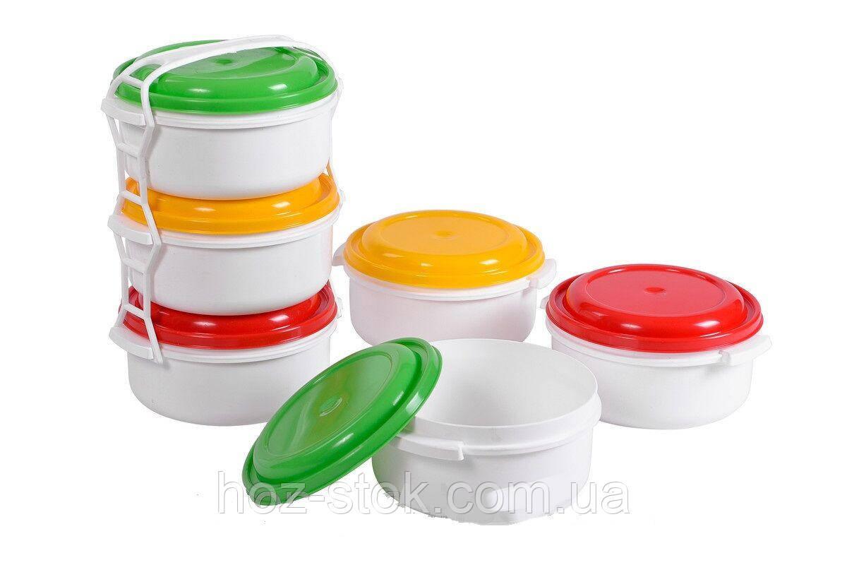 Комплект судків для харчових продуктів комплект 3 шт 1 л (Р072)