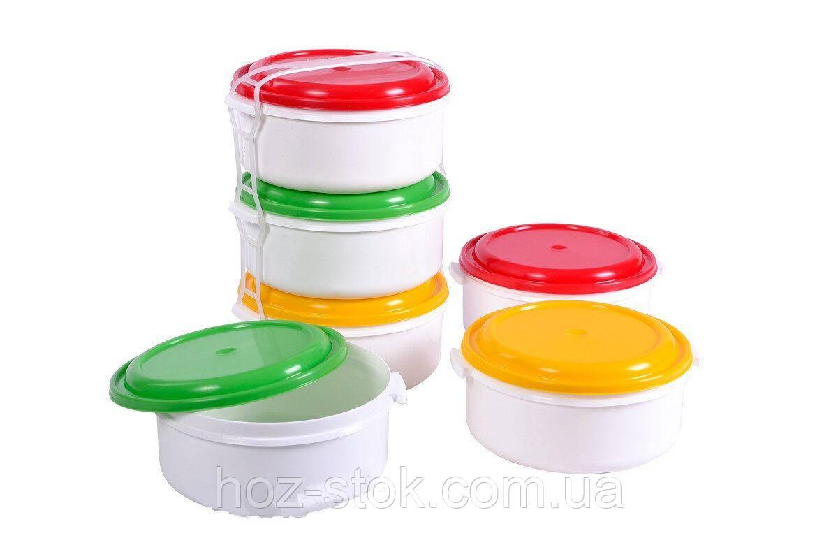 Комплект судків для харчових продуктів комплект 3 шт 2 л (Р071)
