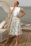 Летняя юбка миди с акварельным принтом, фото 4