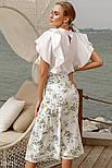 Летняя юбка миди с акварельным принтом, фото 5