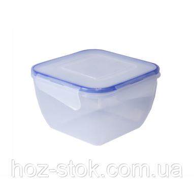 Контейнер для харчових продуктів з зажимом Алеана квадратний 0.9 л (прозорий) (167052)
