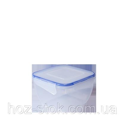 Контейнер для піщ.продуктов з защімом Алеана квадратний 1.5 л (167053)