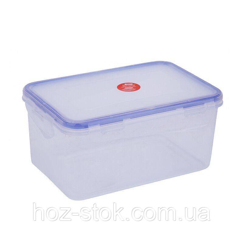 Контейнер для харчових продуктів Алеана 1.5 л, з затискачем, прямокутний прозорий (167042)