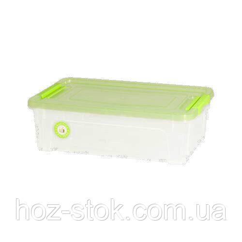 Контейнер Алеана Smart Box Practice 1.7 л, проз./салатовий, проз./оливковий