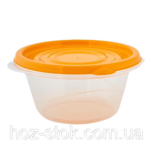 Контейнер для харчових продуктів Омега Алеана круглий 0.44 л (прозорий/помаранчевий)