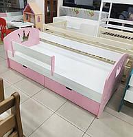 """Детская кровать """"Корона"""", кровать с шухлядами, кровать для девочки"""