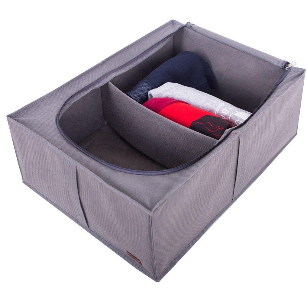 Органайзер для хранения вещей с крышкой ORGANIZE KHV2-grey серый