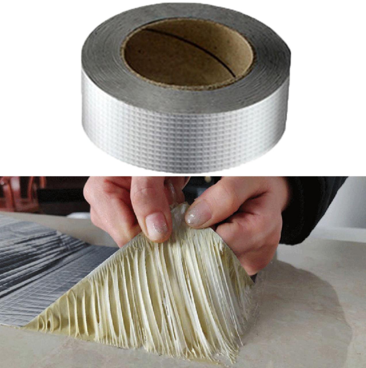 Водостойкая клейкая лента из алюминиевой фольги и бутилового герметика 3 м х 50 мм