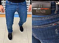 Мужские брендовые джинсы Tommy Hilfiger H0824 синие