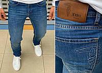 Мужские брендовые джинсы Trussardi H0825 синие