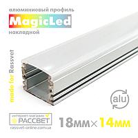 Алюмінієвий профіль MagicLed ML-06 Premium для світлодіодної стрічки накладної