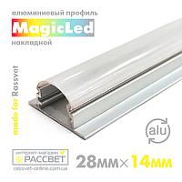 Алюмінієвий профіль MagicLed ML-07 Premium для світлодіодної стрічки накладної