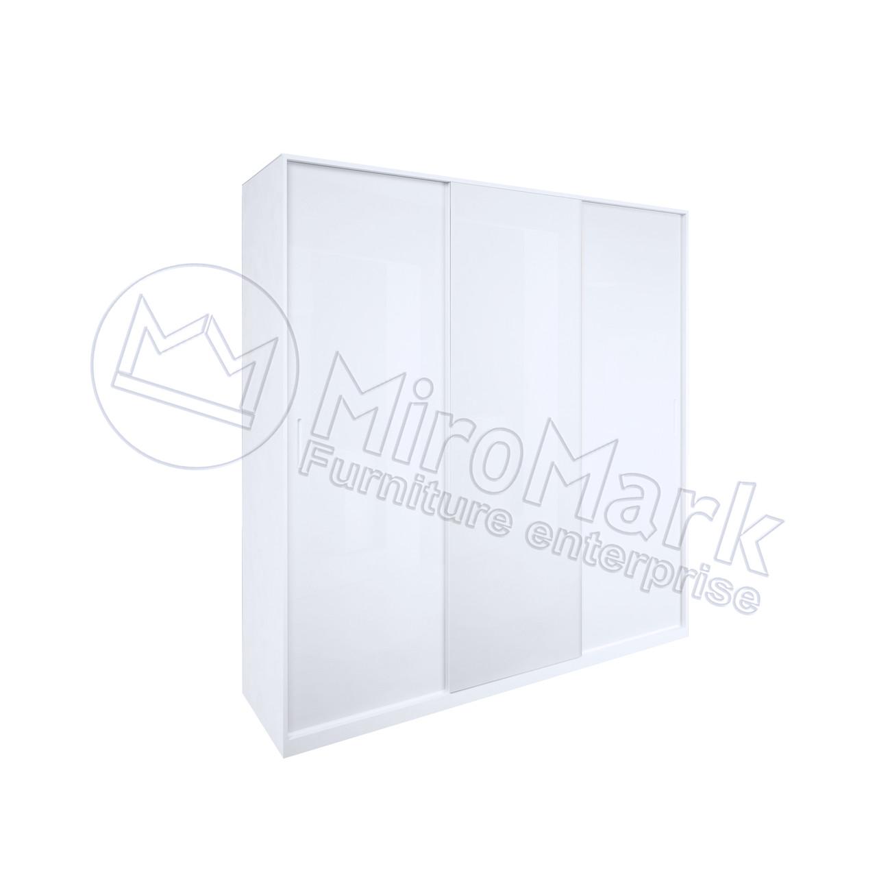 Шкаф-купе 2 м Рома без зеркала глянец белый TM Миро Марк