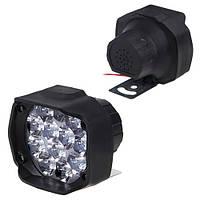 Фара прожектор AUR (12led*10w 80х65мм) T9C пластик 48788 (T9C)