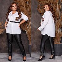 Костюм женский двойка лосины и рубашка по 62 размер, фото 1