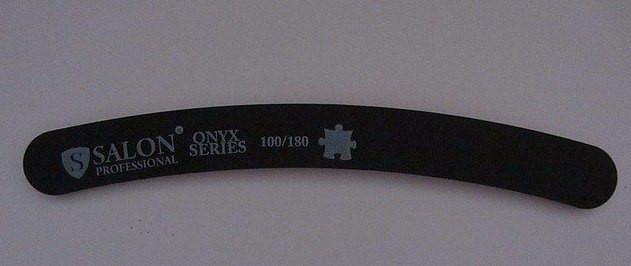 Пилка Salon 100/180 бумеранг чорна
