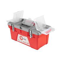 Ящик для инструментов с металлическими замками INTERTOOL BX-0518, фото 1