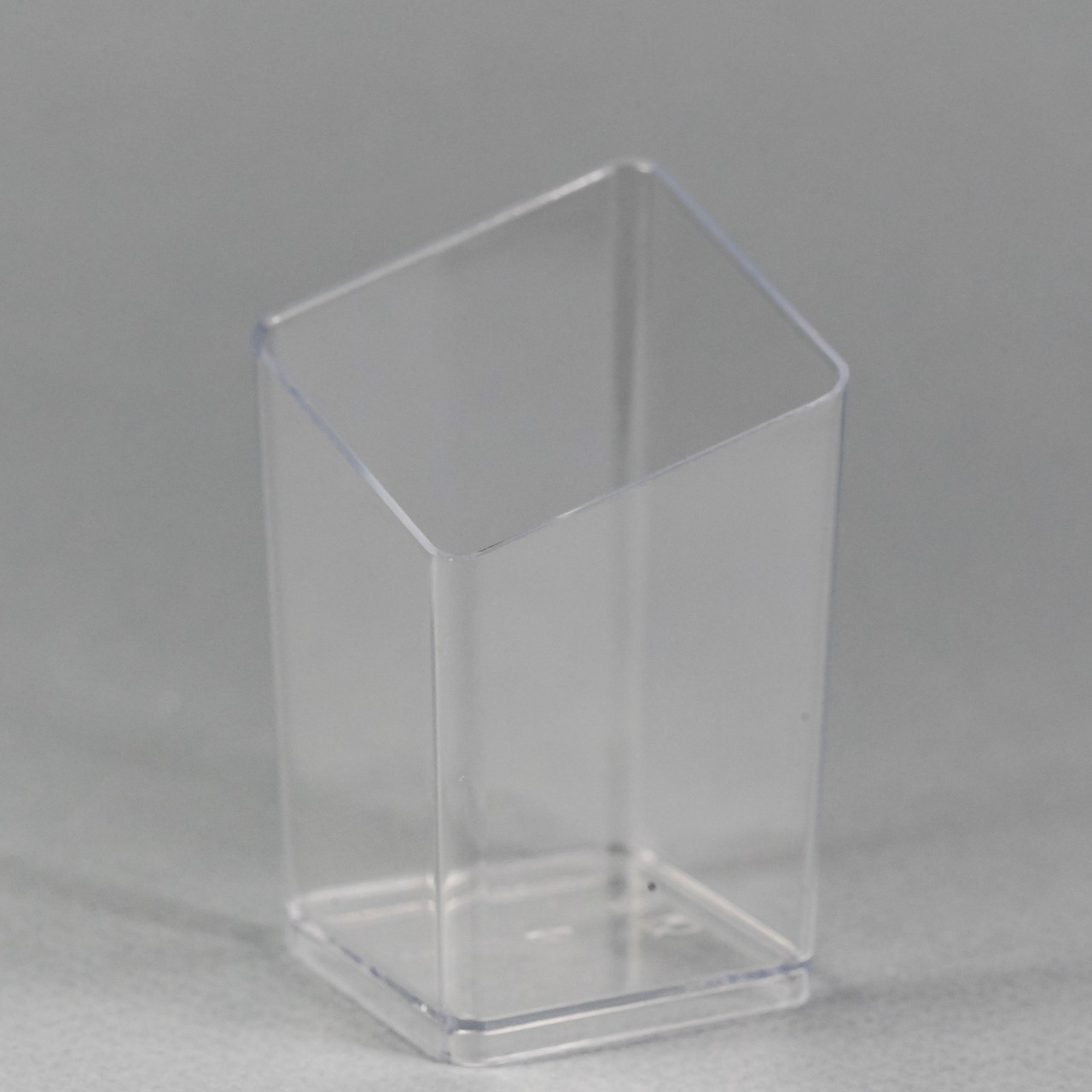 "Пиала-форма фуршетная квадратная 50 мл., 4х4х6,7 см., 10 шт/уп стеклоподобная, прозрачная ""Призма"""