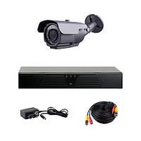 AHD комплект наблюдения на 1 уличную камеру CoVi Security HVK-1003 AHD PRO KIT, 1.3 Мп