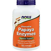Пищеварительные Ферменты Папаи, Papaya Enzymes, Now Foods, 360 леденцов