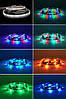 КОМПЛЕКТ Светодиодная LED лента 3528 RGB Все цвета 12V цветная 5м + пульт + блок, фото 3
