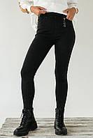 Стрейчевые плотные штаны на флисе FLNN - черный цвет, 25р (есть размеры), фото 1