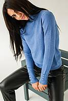 Красивый гольф с пуговицами на рукавах P-M - джинс цвет, S/M (есть размеры), фото 1