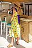 Платье принтованное легкое желтое SKL11-260620, фото 2