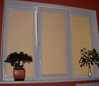 Рулонные шторы (закрытая система, с коробом и направляющими)