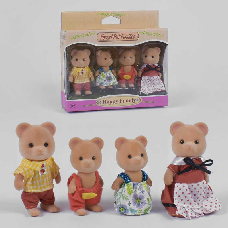 Набор флоксовых животных 20025 (96/2) 4 персонажа, в коробке
