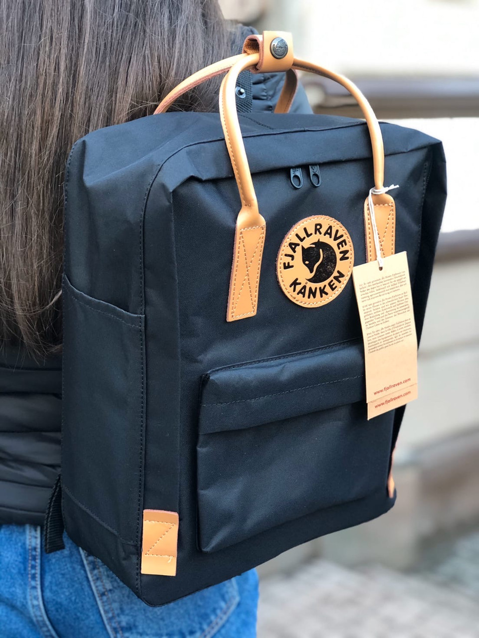 Рюкзак Fjallraven Kanken Black/brown, 16л, Материал: Vinylon F 100%