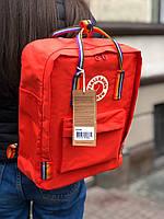 Рюкзак Fjallraven Kanken Red Rainbow, 16л, Материал: Vinylon F 100%, фото 1