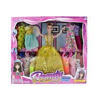 Лялька з нарядом 6018-1 плаття 14 шт, мікс видів, в кор-ке 38-32,5-5,5 см